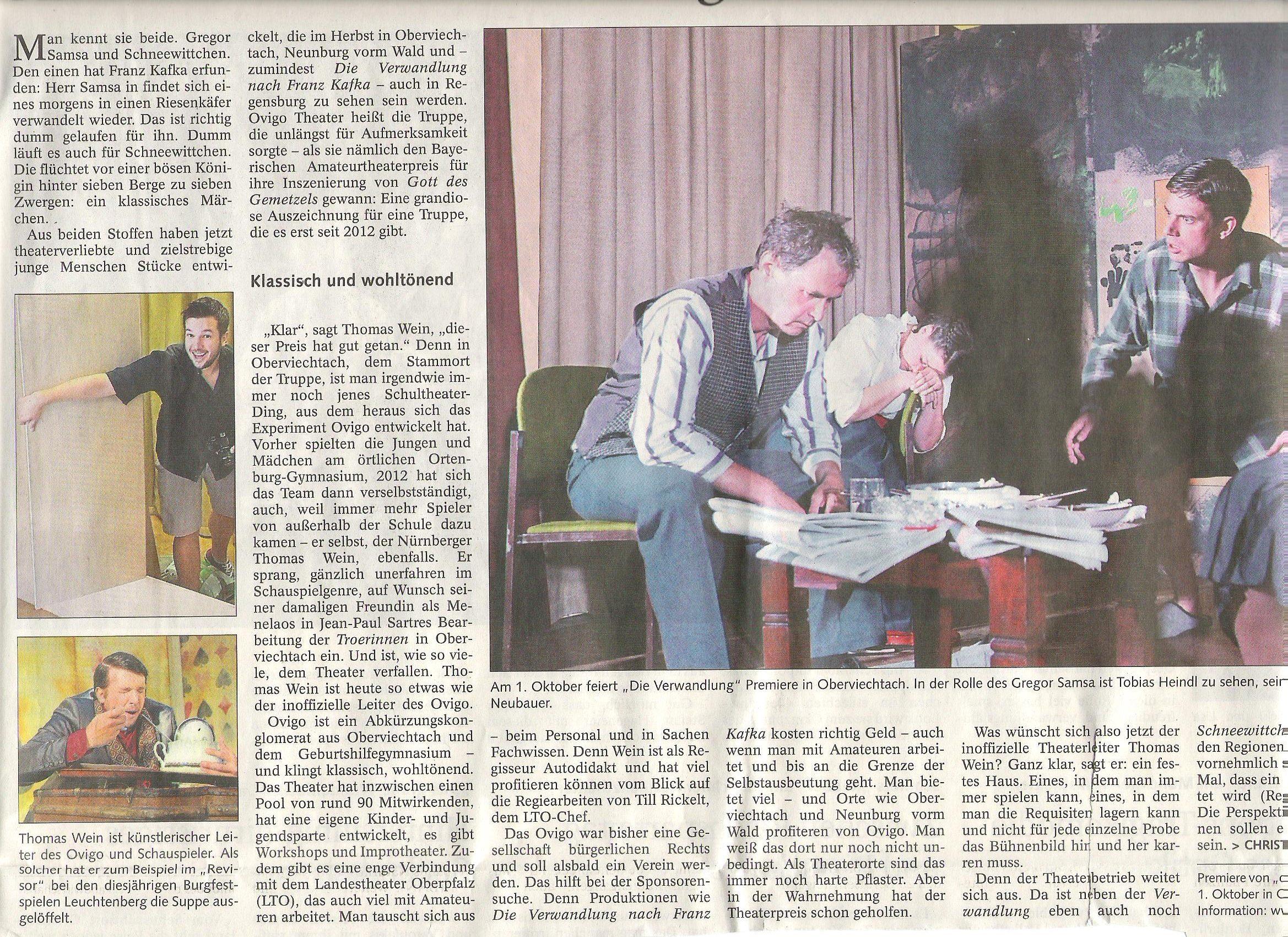 OVIGO Theater in der Bayerischen Staatszeitung, Florian Wein