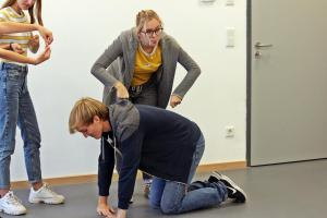 Daniel Adler beim OVIGO Theater-Training
