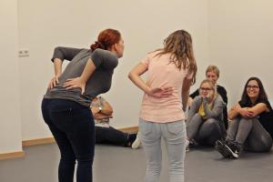 Denise Gießübl beim OVIGO Theater-Training 2019