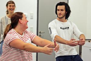 OVIGO Theater-Training, Jule Schneider & Roberto Richter