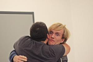 André Gießübl & Daniel Adler beim OVIGO Theater-Training