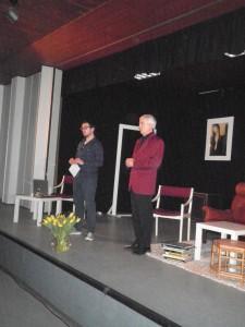 """OVIGO Theater, Gastspiel in Nürnberg, """"Der Gott des Gemetzels"""", Florian und Erich Wein"""