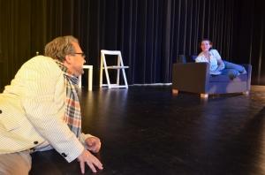 """""""Jakes Frauen"""" (OVIGO Theater, 2013), Florian Waldherr und Martina Baumer"""