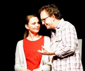 """""""Der Gott des Gemetzels"""" (OVIGO Theater 2015), Julia Ruhland und Uli Scherr"""