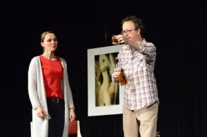 """""""Der Gott des Gemetzels"""", OVIGO Theater, Julia Ruhland und Uli Scherr"""