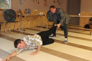 Schauspiel-Workshop in Oberviechtach, Tobias Heindl und Stefan Neubauer, OVIGO Theater 2016