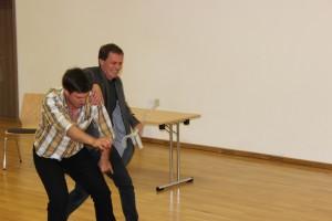 Schauspiel-Workshop in Oberviechtach, OVIGO Theater, Tobias Heindl mit Stefan Neubauer