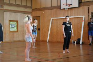 Theresia Igl beim OVIGO Theater-Training (2019)