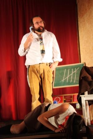 """OVIGO Theater, """"Die Unterrichtsstunde"""", F. Waldherr und L. Berger"""