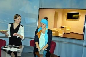 """Lampedusa"" im TVA-Studio (Julia Gruber, Janina Dötterl)"