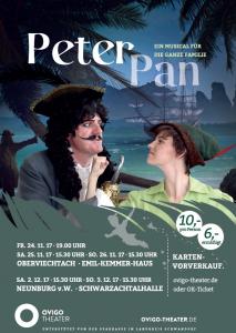 """""""Peter Pan"""" Plakat 2017 für Oberviechtach & Neunburg v.W."""