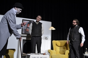 "OVIGO Theater, ""Dr. med. Hiob Prätorius"" (2014), Heino Hübbers, Michael Eckl und Florian Waldherr"