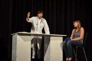 "OVIGO Theater, ""Dr. med. Hiob Prätorius"" (2014), Florian Wein und Julia Ruhland"