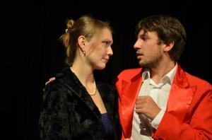 "OVIGO Theater, ""Dr. med. Hiob Prätorius"", Julia Ruhland und Florian Wein"