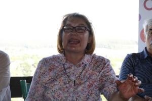 Die evangelische Pfarrerin Irene Friedrich zeigte sich meinungs- und wortstark