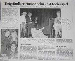 Artikel über das Ortenburg-Ensemble 2009
