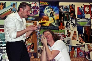 "Christian Gnan im ""Männerhort"", mit Michael Zanner als Eroll"