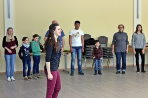 Theresa als Workshop-Leiterin