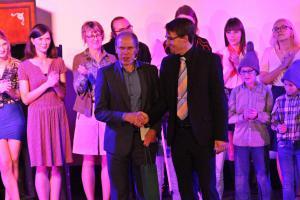 Schulleiter Ludwig Pfeiffer und Musiklehrer Andreas Lehmann / 40VIGO