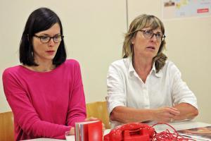 """""""Eine ganz heiße Nummer"""" Probe mit Ilona Glück (rechts), OVIGO Theater, 2019"""