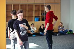 Impro-Workshop in der Realschule Nabburg (OVIGO Theater)
