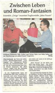 """""""Der Neue Tag"""" zu """"Jakes Frauen"""" (OVIGO Theater 2013)"""