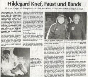 "Vorbericht zu ""Faust"" (2009)"