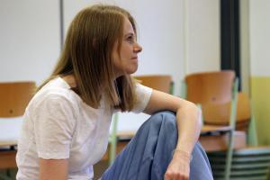 Natalie Steidl beim OVIGO Theater-Training