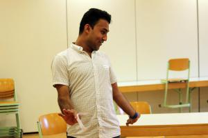 OVIGO Theater-Training, mit Junaid Ahmad Bajauri