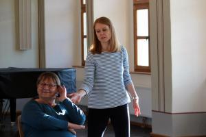 OVIGO Theater-Training, mit Natalie Steidl (rechts)